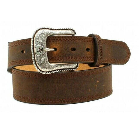 Ariat Men's Brown Stitched Edge Rowdy Belt A10210283