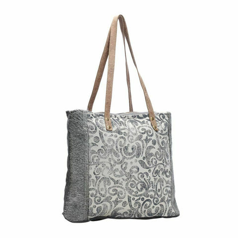 Myra Bag Leaf Print Canvas Tote Bag S-1140