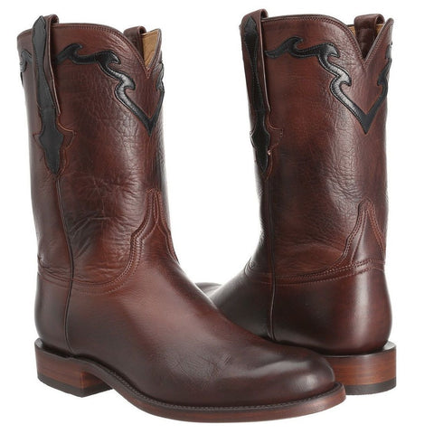 Lucchese Men's Whiskey Burnished Baby Buffalo Roper Boot L3555.RR - Wild West Boot Store - 1