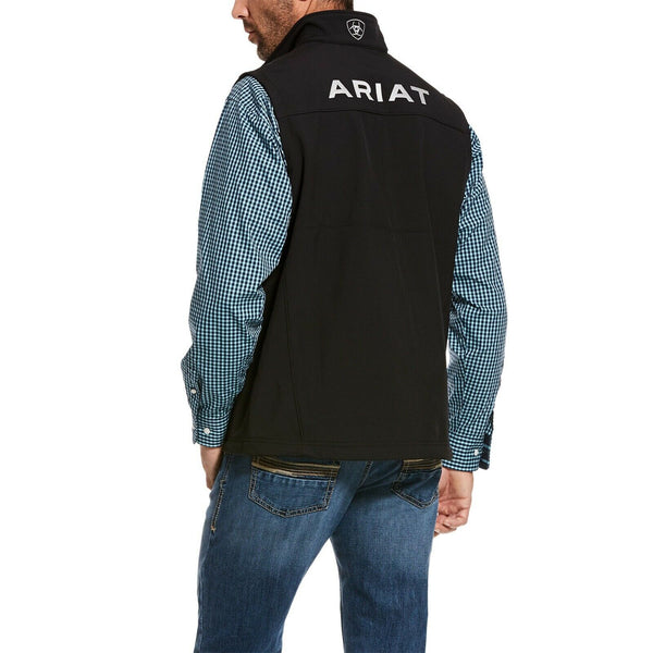 Ariat® Men's Logo 2.0 Black Stretch Softshell Vest 10028321