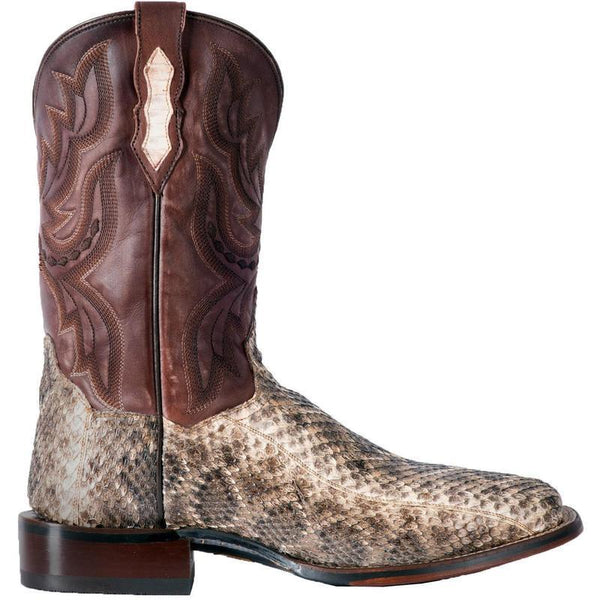 Dan Post Men's Natural Poison Rattlesnake Square Toe Boots DP3982
