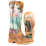 Tin Haul Ladies Cactilicious Lookin Sharp Cactus Boot 14-021-0007-1337 - Wild West Boot Store