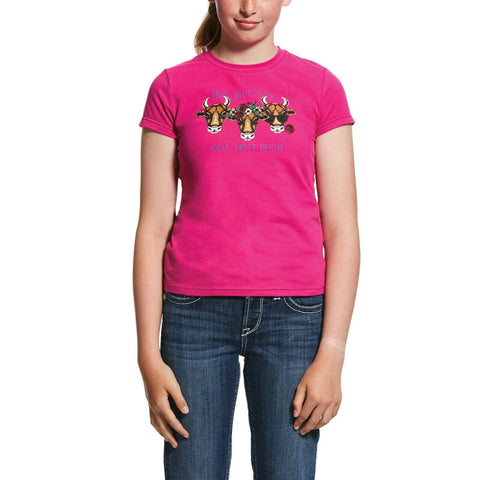 Ariat® Kids' R.E.A.L.™ Hay Girl Rose Hibiscus T-Shirt 10031846