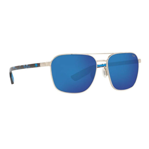 Costa Wader Silver Frame with Blue Mirror Lens Sunglasses WDR 293 OBMP