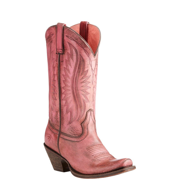 Ariat® Ladies Circuit Salem Naturally Distressed Pink Boots 10023136
