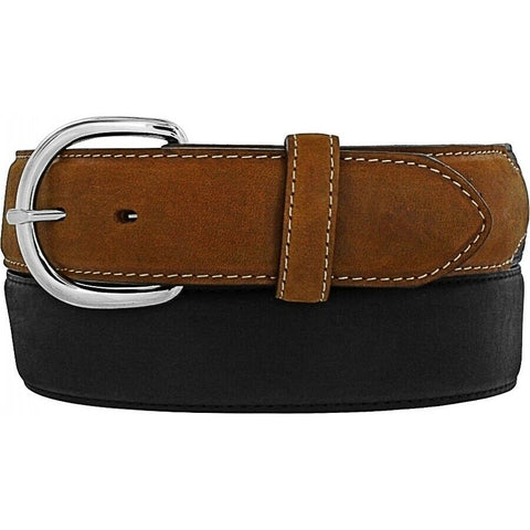 Brighton Men's Black & Brown Classic Western Belt 53700
