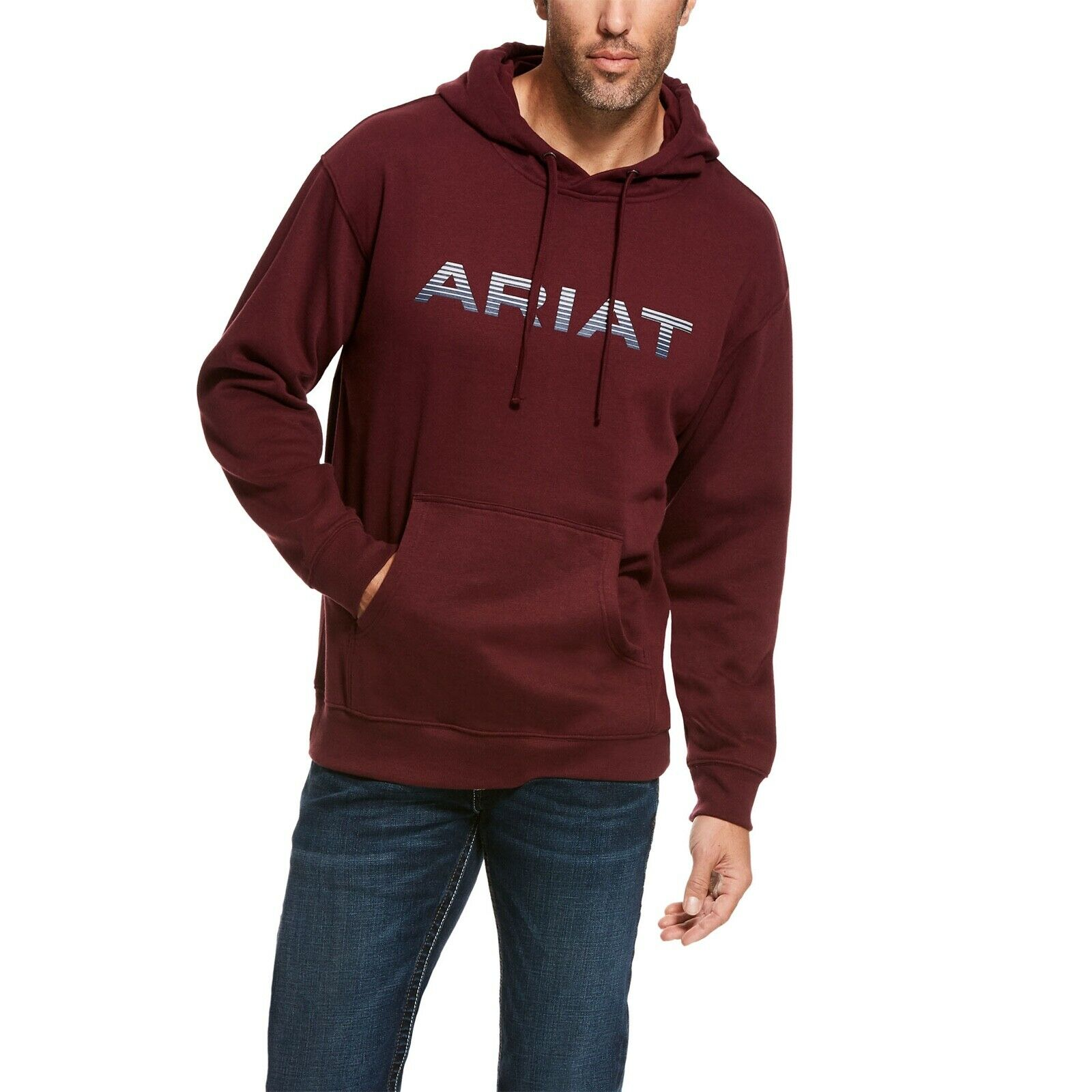 Ariat  Men's Ancho Chili Red Graphic Logo Hoodie Sweatshirt 10027977