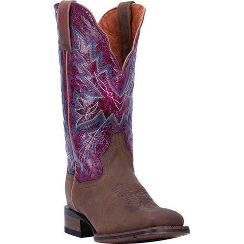 Dan Post Ladies Pasadena Brown & Purple Leather Boots DP4570