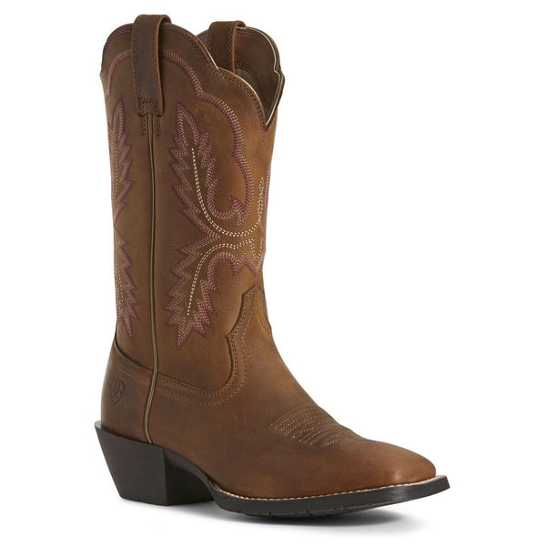 Ariat® Ladies Hybrid Rancher Crossfire Distressed Brown Boots 10027391