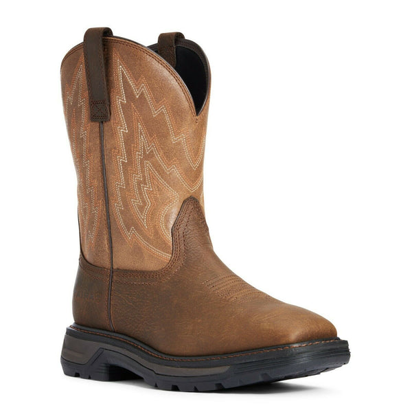 Ariat® Men's Rye Brown Big Rig Soft Toe Western Work Boot 10033963