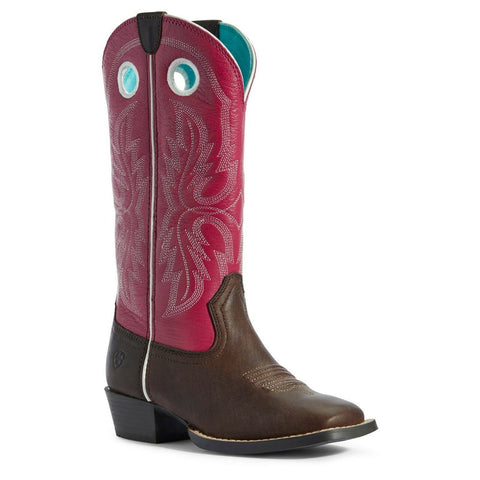Ariat Children's Brown and Pink Whippersnapper Boots 10031545
