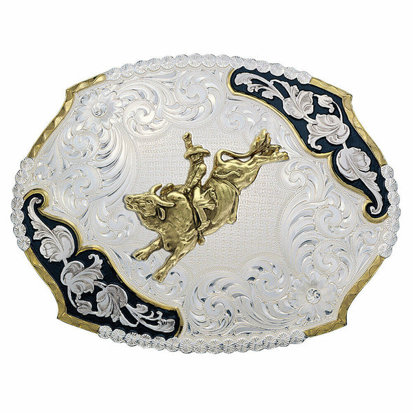 Montana Silversmiths Antique Leaves Western Buckle 3810-528-BK