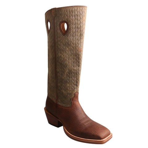 Twisted X Buckaroo Men's Distressed Brown Boot MBKL013