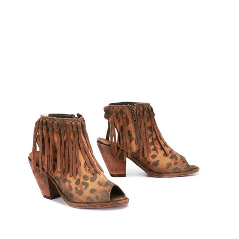 Liberty Black Ladies Cheetah Miel Bootie LB-721007