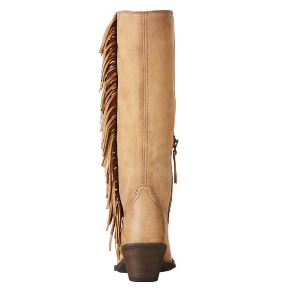 Ariat® Ladies Beige Leyton Tall Fringe Boots 10021640 - Wild West Boot Store