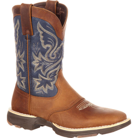 Durango Ladies Blue/Brown Ultra-Lite Western Saddle Boot DRD0183 - Wild West Boot Store - 1