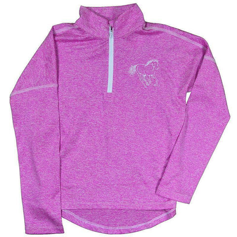 Cowgirl Hardware Girls Heather Pink Sport Knit Pullover 473276-154