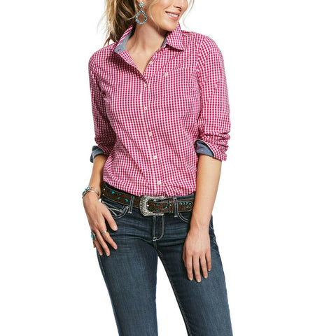 Ariat® Ladies Rose Hibiscus REAL Kirby Stretch Shirt 10031873