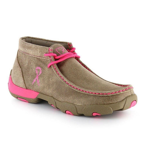 Twisted X Ladies Breast Cancer Awareness Driving Moc WDM0012 - Wild West Boot Store - 1