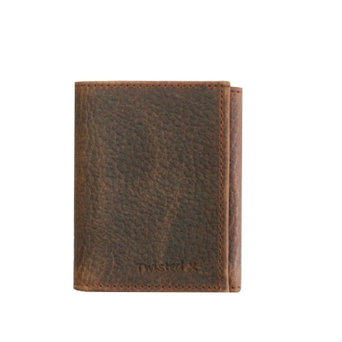 Twisted X Mens Brown Leather Tri-fold Wallet XWW-51