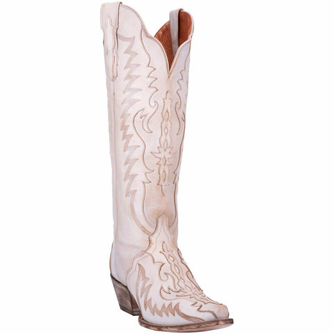 Dan Post Ladies Hallie Bone Knee-High Western Boots DP4026
