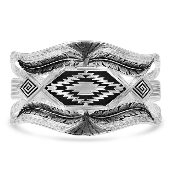 Montana Silversmiths Courage & Strength Feather Cuff  Bracelet BC4343