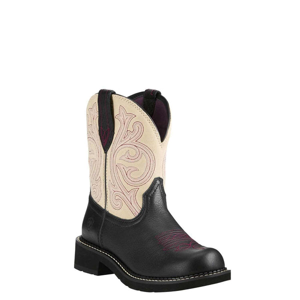 Ariat® Ladies Fatbaby Heritage Black Carbon & Cream Boots 10021464 - Wild West Boot Store