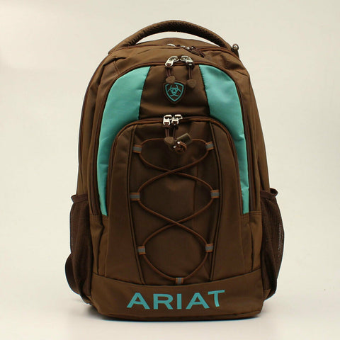 Ariat Unisex Brown & Turquoise Backpack A460000102