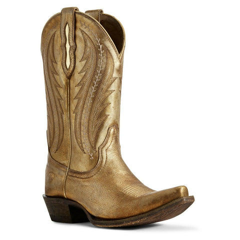 Ariat® Ladies Gold Metallic Tailgate Western Boots 10029678