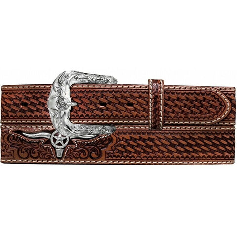 Justin Men's Brown Trophy Bull Western Belt C11284