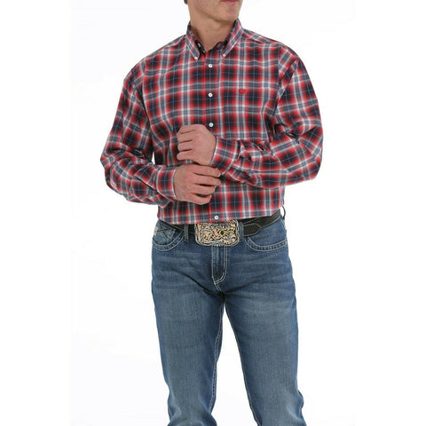 Cinch Men's Multi-Color Long Sleeve Button-Down Shirt MTW1104915