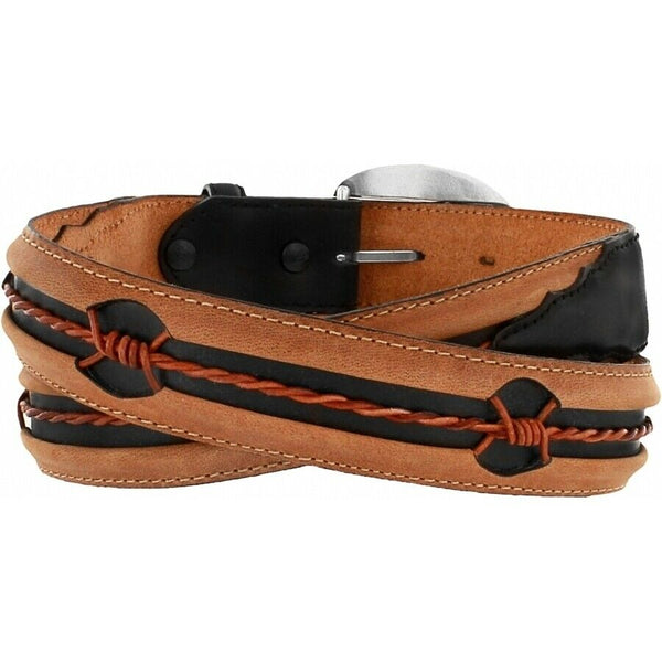 Justin Men's Aged Bark Fenced in Belt C10813