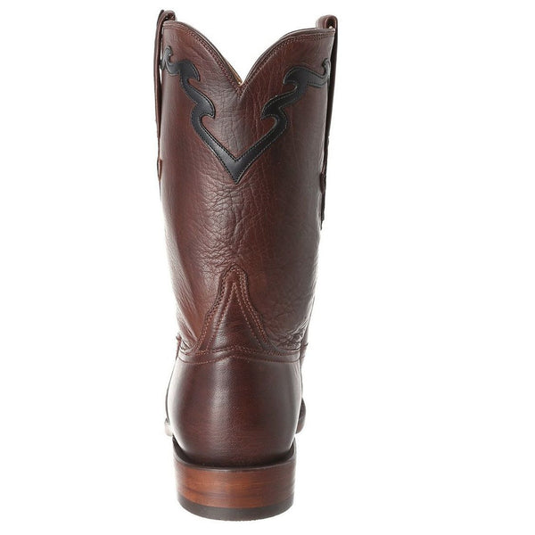 Lucchese Men's Whiskey Burnished Baby Buffalo Roper Boot L3555.RR - Wild West Boot Store - 4