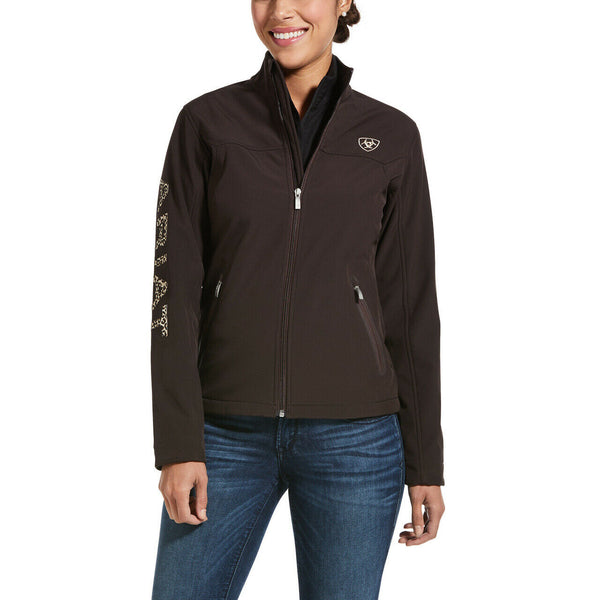 Ariat Ladies New Team Coffee Bean & Animal Softshell Jacket 10032689