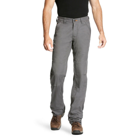 Ariat® Men's Rebar M4 DuraStretch Canvas Grey Utility Pants 10023476