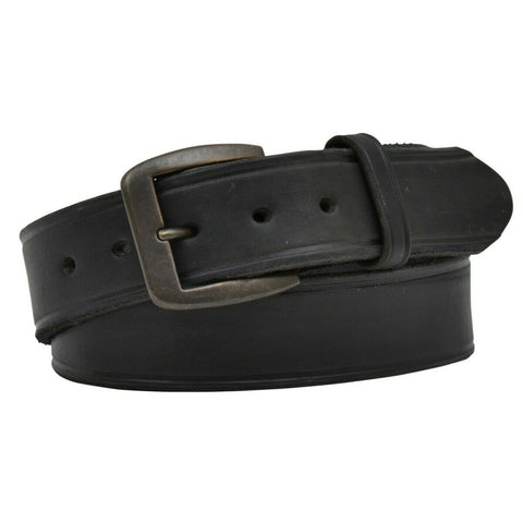 3D Belt Company Men's Latigo Creased Black Leather Belt D1140