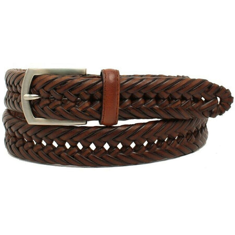 Nocona Hired Hand Men's Brown Braided Leather Belt N2630602
