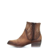 Circle G By Corral Ladies Chocolate Cutout & StudsShortie Boots Q0118 - Wild West Boot Store