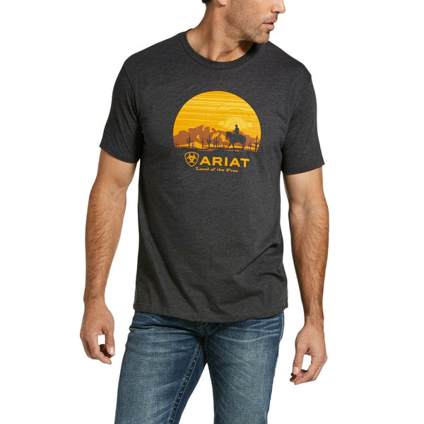 Ariat® Men's Fragment Cowboy Short Sleeve Charcoal T-Shirt 10033357