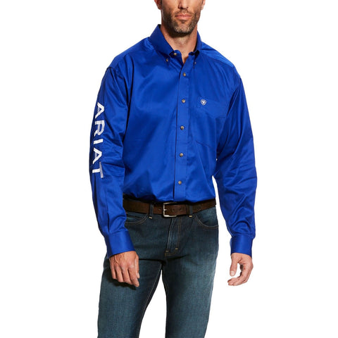 Ariat® Men's Team Logo Ultramarine Twill Long Sleeve Shirt 10017498