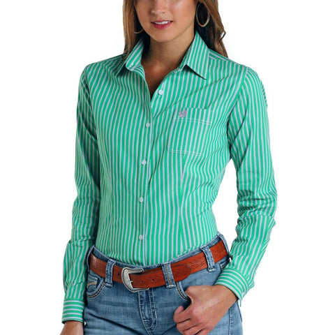 Panhandle Rough Stock Ladies Porch Classic Stripes Shirt R4B5776