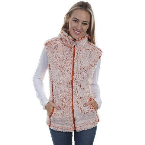 Scully Ladies Tangerine Sherpa Vest HC335-TGN