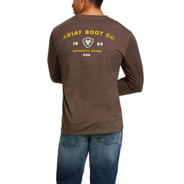 Ariat® Men's Brown Stencil Long-Sleeve T-Shirt 10031720