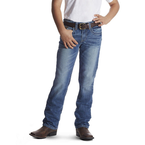 Ariat® Boy's B5 Slim Charger Stackable Straight Leg Jeans 10018347