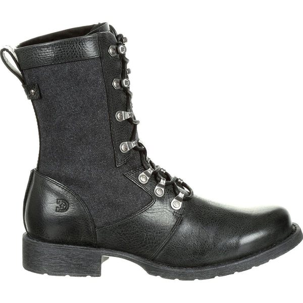 Durango Ladies Drifter Black Slate Lace-Up Combat Boots DRD0323