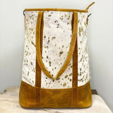 American Darling White and Gold Cowhide Shoulder Purse ADBGS157ACGO
