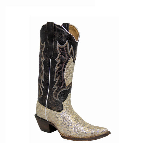 Tanner Mark Ladies Horma Dragon Beige Boot TML 11001 - Wild West Boot Store