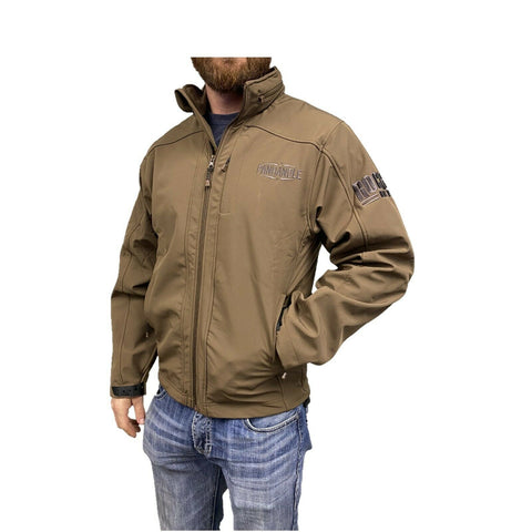 Powder River Outfitters Men's Brown Softshell Logo Jacket 92-9645-24