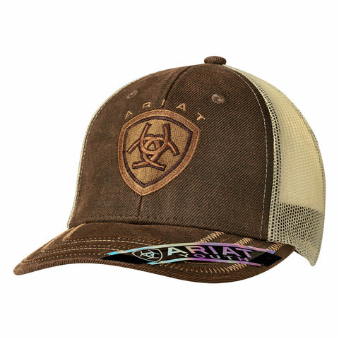 Ariat Youth Unisex Brown Oilskin Snapback Ball Cap 1519302