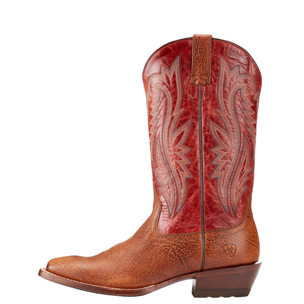 Ariat® Men's Fireside Texaco Tan & Red Performance Boots 10023149 - Wild West Boot Store